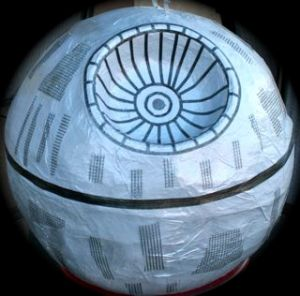 Finshed Death Star Pinata