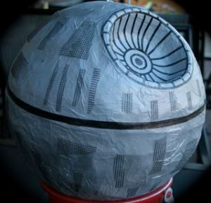 how to make an star wars death star pinata