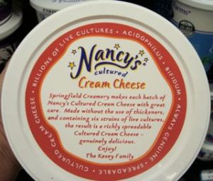 Cultured Cream Cheese...has 6 live cultures! Great for celiac tummies...
