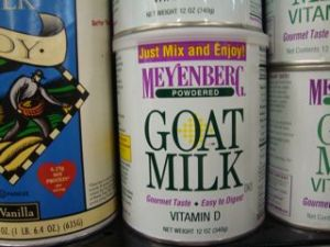 Powdered Goat Milk...might be a bit to tangy for condensed soup??