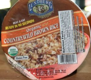 Pre-cooked Brown Rice...6 grams of fiber per serving!