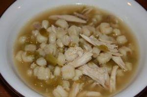 Green Chile, Chicken, Posole Soup Recipe — Dishmaps