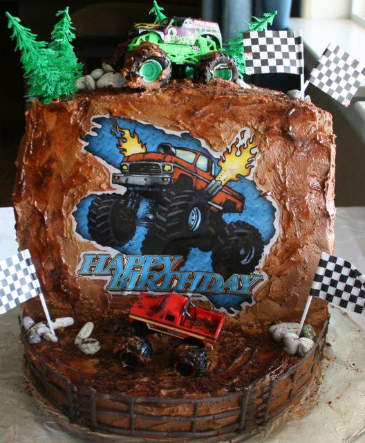 Gluten Free Monster Truck Birthday Cake